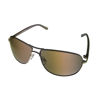 Ellen Tracy Womens Sunglass 510 1 Gold Metal Aviator, Light Brown Lens - Medium