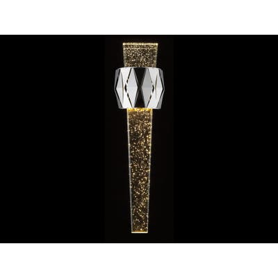 Avenue Lighting the original Glacier Avenue Collection polished nickel steel and clear bubbled crystal LED dimmable wall sconce