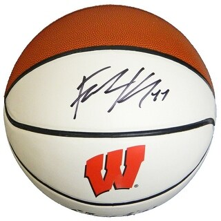 Frank Kaminsky Signed Wisconsin Baden White Logo Basketball