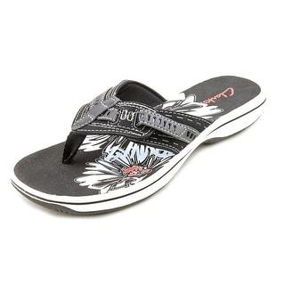Clarks Breeze Sky Women Open Toe Synthetic Black Flip Flop Sandal