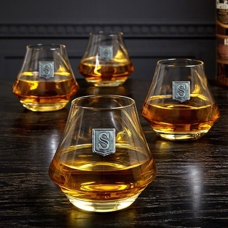Link to DiMera Regal Crested Whiskey Glasses, Set of 4 Similar Items in Glasses & Barware