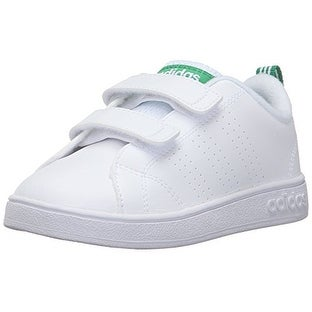 big sale 4f67a 0f591 Shop adidas Neo Boys  Vs Advantage Clean CMF Inf Sneaker, White White Green  - Free Shipping Today - Overstock - 20999281