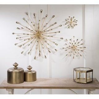 Tripar Medium Gold Starburst Wall Art