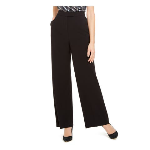 ANNE KLEIN Womens Black Zippered Wear To Work Pants Size 6