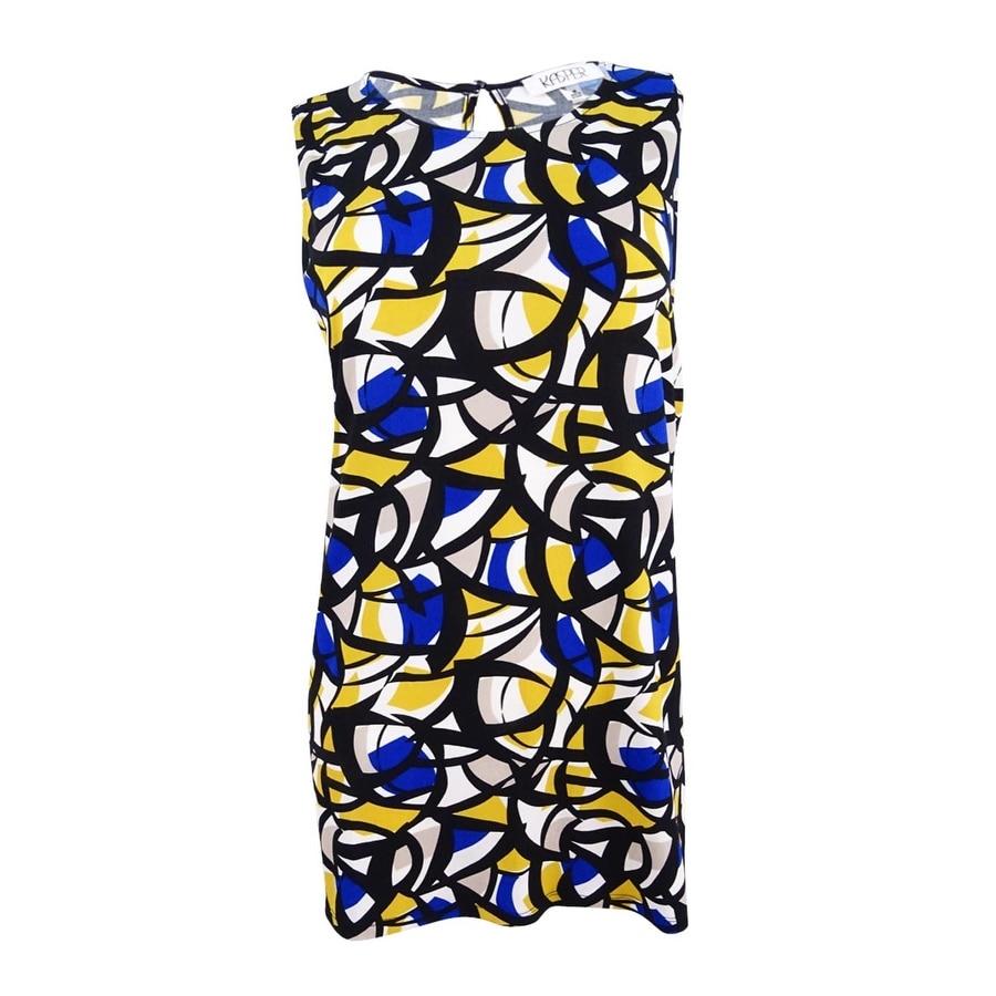 Kasper Womens Printed Tunic Top - Cobalt Multi
