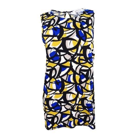 Kasper Women's Printed Tunic Top - Cobalt Multi