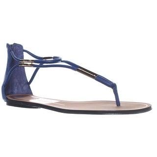 Dolce Vita Marnie T-Strap Ankle Strap Sandals - Blue Stella