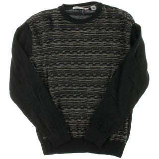 Alex Cannon Mens Jacquard Long Sleeves Crewneck Sweater - M