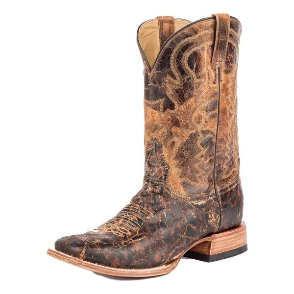 Stetson Western Boots Mens Austin Leather Brown