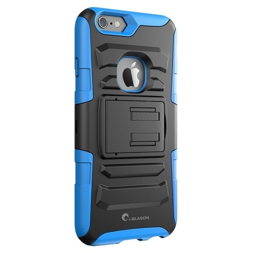iBlason-iPhone 6S Plus-Prime Series Dual Layer Holster Case-Blue