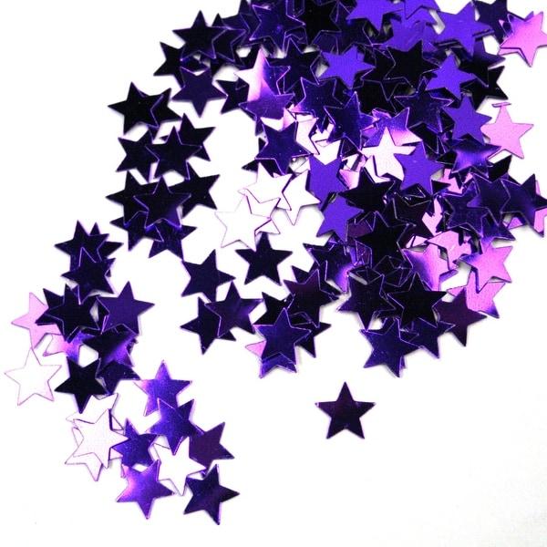 Purple Star Foil Confetti