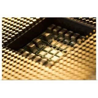 """Studio shot of computer chip"" Poster Print"
