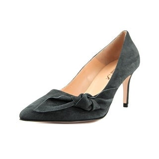 Anna F. Tessa Women  Pointed Toe Suede Gray Heels