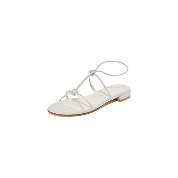 Stuart Weitzman Womens Tweety Dress Sandals Leather Shimmer
