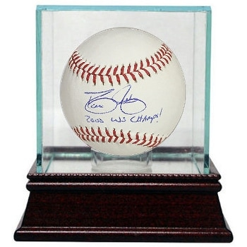 9865a5452 Shop David Justice signed Rawlings Official Major League Baseball 2000 WS  Champs w Glass Case New York Y - Free Shipping Today - Overstock - 19867137