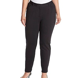 Calvin Klein NEW Black Women's Size 22W Plus Ponte Straight Leg Pants