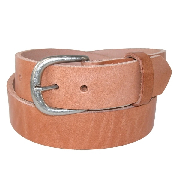 Boston Leather Men's Big & Tall Heavy Duty One Piece Leather Work Belt