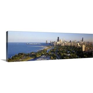 """USA Illinois Chicago"" Canvas Wall Art"
