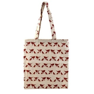 Travel School Linen Sundries Storage Pigeon Print Single Shoulder Tote Bag