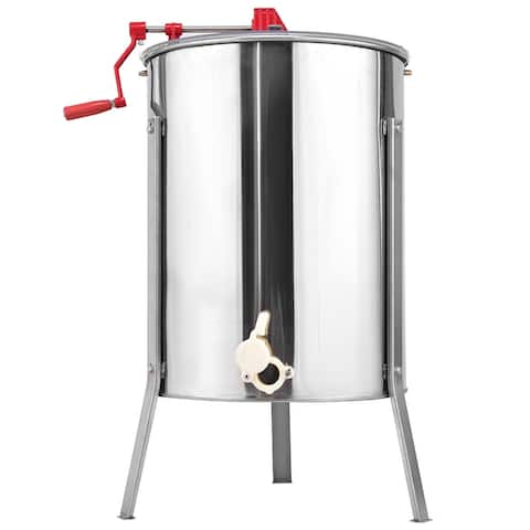 Gymax 4 Frame Honey Extractor Manual Beekeeping Equipment Stainless Steel