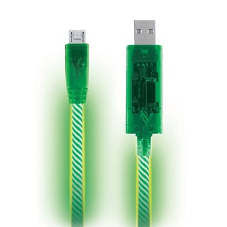 Pilot Automotive Electroluminescent Light Up Micro USB Charging Sync/ Data Cable (Option: Green)