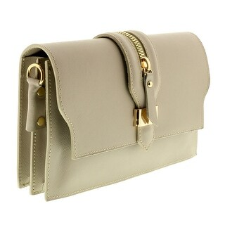 HS1168 TP CLO Taupe Leather Clutch/Shoulder Bag - 8.5-6.5-2.5
