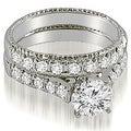 2.00 cttw. 14K White Gold Vintage Cathedral Round Cut Diamond Bridal Set - Thumbnail 0