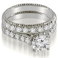 2.00 cttw. 14K White Gold Vintage Cathedral Round Cut Diamond Bridal Set - Thumbnail 0