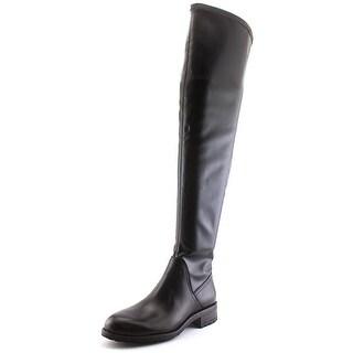 Sam Edelman Remi Women Round Toe Leather Black Over the Knee Boot