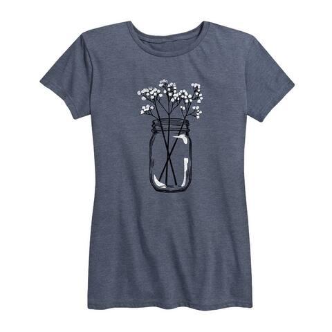 Babys Breath Jar - Women's Short Sleeve Graphic T-Shirt