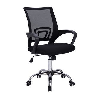 costway modern mesh midback office chair computer desk task ergonomic swivel black new
