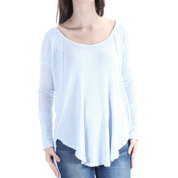 3e01bce33b0 Shop Womens Light Blue Long Sleeve Scoop Neck Hi-Lo Top Size M - Free  Shipping On Orders Over $45 - Overstock - 21238362