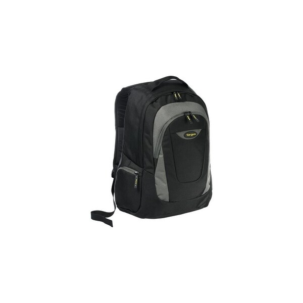"Targus TSB193US Targus Trek Carrying Case (Backpack) for 16"" Notebook - Black, Yellow, White Accent - Polyester - Shoulder"