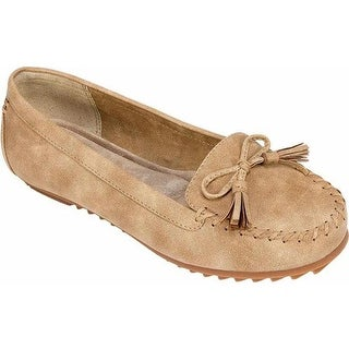 Cliffs by White Mountain Women's Samanda Smoking Flat Natural Sueded Smooth Polyurethane