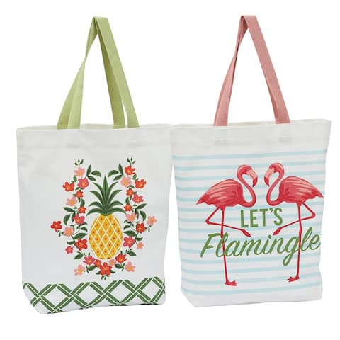 Pineapple Collection, Tote Bag Set, 2 Piece
