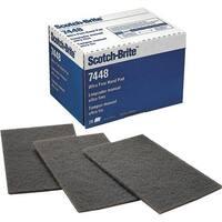 3M Scotchbrite Gry Hand Pad 7448 Unit: BOX