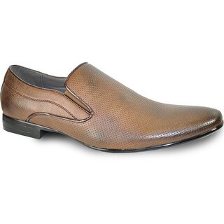 BRAVO Men Dress Shoe KLEIN-3 Loafer Shoe Brown with Leather Lining (More options available)