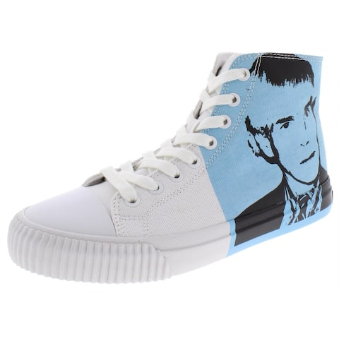 Calvin Klein Womens Iconica High Top Sneakers Printed High Top