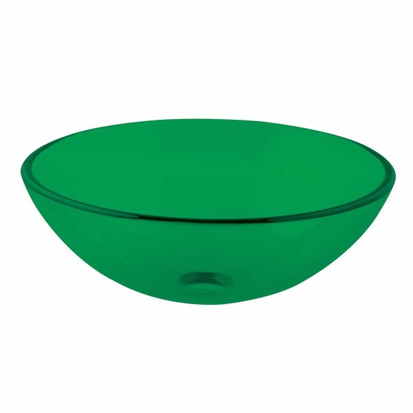 Emerald Tempered Glass Vessel Sink Bowl With Drain | Renovators Supply