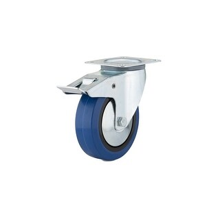 Richelieu F24800 185 lb. Maximum Weight Capacity Commercial Grade Swivel Mount Caster with Brake - Blue
