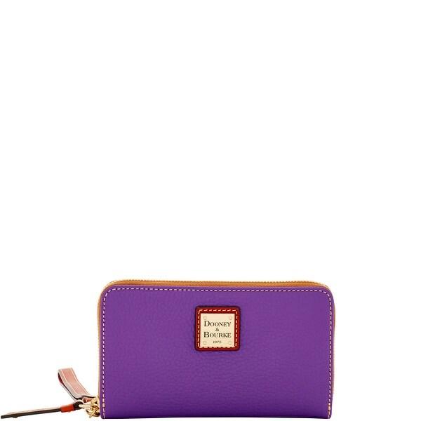 Dooney & Bourke Pebble Grain Zip Around Phone Wristlet (Introduced by Dooney & Bourke at $118 in Oct 2016) - violet