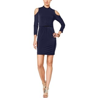 Jessica Simpson Womens Party Dress Ruched Open Shoulder