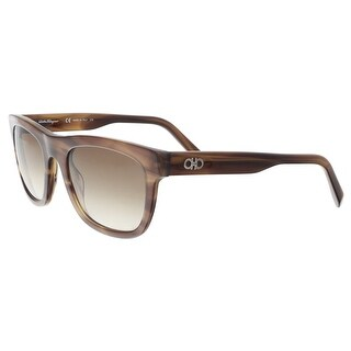 Salvatore Ferragamo SF825S 216 Striped Brown Navigator Sunglasses - 53-21-145