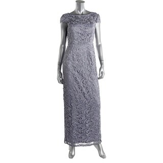 Adrianna Papell Womens Crochet Prom Evening Dress