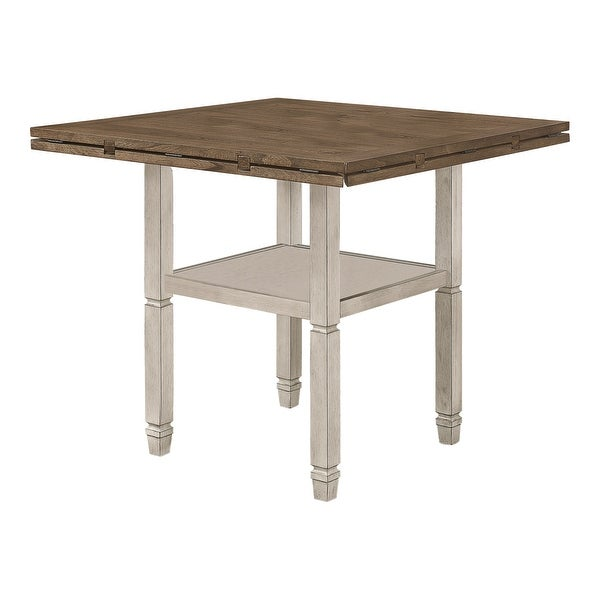 The Gray Barn Myrtle Field Nutmeg and Rustic Cream Round Counter Height Table. Opens flyout.