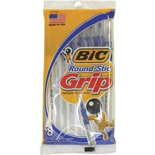 Bic Corporation 8Pk Blue Rnd Grip Pen GSMGP81-BLU Unit: PKG Contains 12 per case