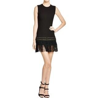 Elizabeth and James Womens Eron Clubwear Dress Fringe Sleeveless
