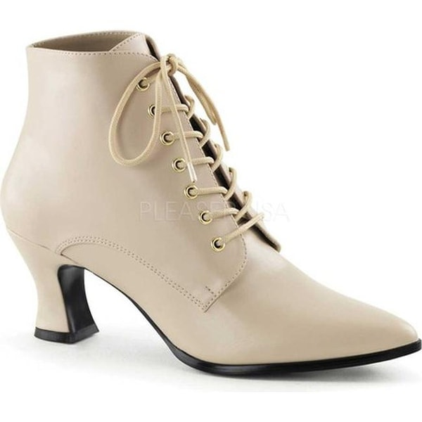 Funtasma Women's Victorian 35 Cream PU