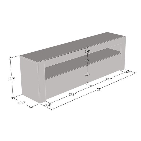 Milano Classic Modern 16 color 63-inch TV Stand