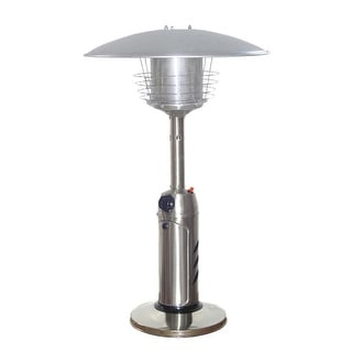 PrimeGlo HLDS032-B Tabletop Propane Patio Heater - STAINLESS STEEL
